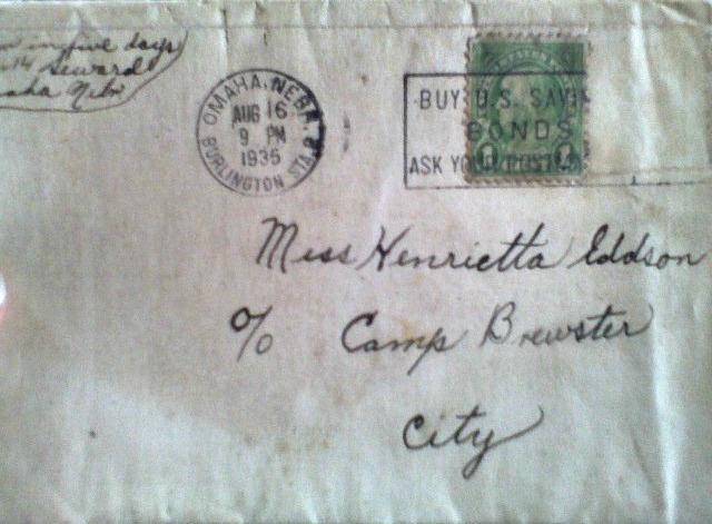 Henrietta letter 1